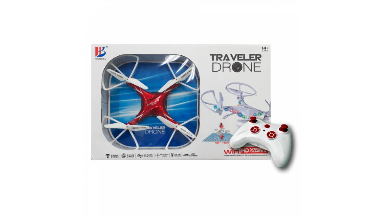DRONE 2.4GHZ CON CAMARA LUZ Y CONTROL REMOTO