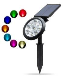 LAMPARA JARDIN SOLAR 9 LED